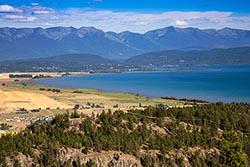 View of Bigfork, Montana Somers, MT Summer Landscape