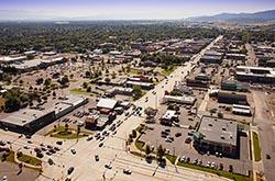 Kalispell, Highway 93 & Highway 2 Kalispell, MT Summer Aerial