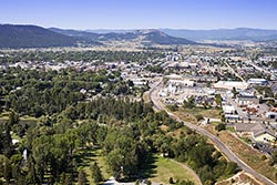 Above Woodland Park, Kalispell, MT Kalispell, MT Summer Aerial