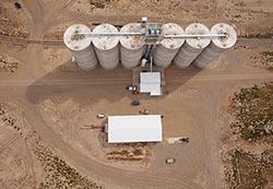 Chester, Montana Grain Elevator Chester, MT Summer Aerial