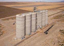 Grain Elevator built by Vigen Construction Chester, MT Summer Aerial