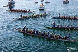 Dragon Boat Party BigFork, MT Summer Aerial