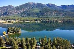 770 Blaine View Home For Sale, Lake Blaine, MT Kalispell, MT Summer Aerial