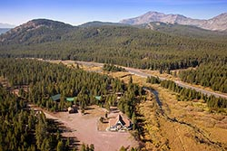 Summit Station, Historic Hotel For Sale Glacier Park Fall Aerial