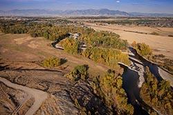 Gallatin River, Bozeman, MT Bozeman, MT Fall Aerial