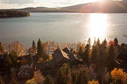 1488 Barkley Lane Home For Sale Whitefish Lake, MT Fall Aerial