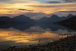 Classic reason to live here.  Lake McDonald Sunset Lake McDonald Fall Landscape