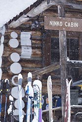 Ninko Cabin skis meet Hexacopter Polebridge, MT Winter Cabins