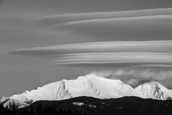 Great Northern Peak Hungry Horse Winter Landscape