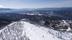 Inspiration Big Mountain Winter Aerial
