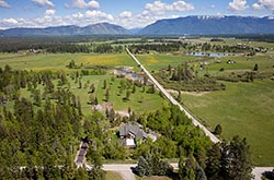 Whitefish Home For Sale Whitefish, MT Summer Aerial