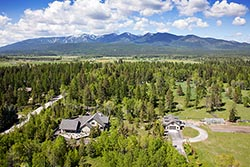 697 Armory Road Luxury Home For Sale Whitefish, MT Summer Aerial