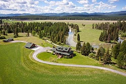 450 Hanson Road, Stillwater River Home For Sale Whitefish, MT Summer Aerial
