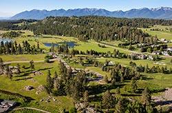 Eagle Rock Development Eagle Bend BigFork, MT Summer Aerial