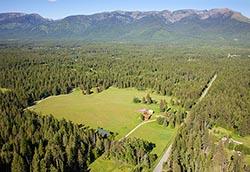 Business Retreat For Sale Bigfork, Montana BigFork, MT Summer Aerial