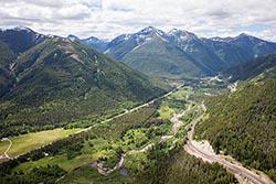 Essex, Montana, Glacier National Park  Essex, MT Summer Aerial