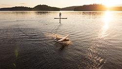 de Havilland Beaver Tupper Lake, NY Summer Aerial