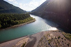 Flathead River Property For Sale Columbia Falls Summer Aerial