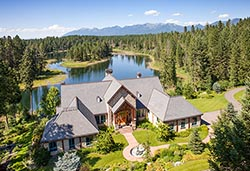 715 Parker Lakes Drive Luxury Home For Sale BigFork, MT Summer Aerial