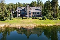 Montana Lake Home For Sale, Bigfork, Montana BigFork, MT Summer Aerial