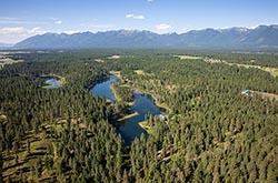 Parker Lakes Home For Sale, Bigfork,  Montana BigFork, MT Summer Aerial