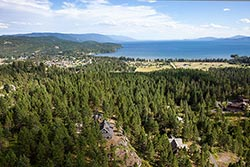 650 Hogue Drive, Home with a view For Sale BigFork, MT Summer Aerial