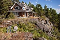 650 Hogue Drive, Bigfork, Montana Home For Sale BigFork, MT Summer Aerial