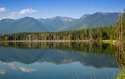 Jewel Basin Ranch, Echo Lake, Montana Echo Lake Summer Landscape