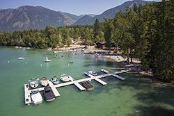 Lake Five Resort, West Glacier, Montana Lake Five Summer Aerial