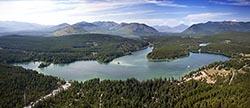 Lake Five, West Glacier, Montana West Glacier, MT Summer Aerial