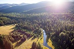 Property For Sale near Swan Lake, Bigfork, Montana Swan Lake Summer Aerial