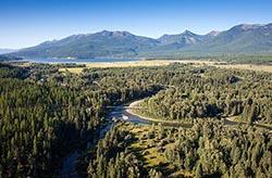 Swan River and Swan Lake Property Swan Lake Summer Aerial