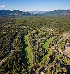 Meadow Lake Gold Course looking North Columbia Falls Summer Aerial