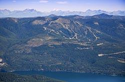 Whitefish Mountain Resort Big Mountain Summer Aerial