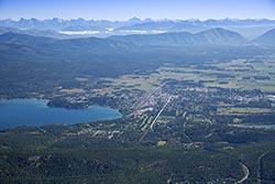 Whitefish, Montana Whitefish Lake, MT Summer Aerial