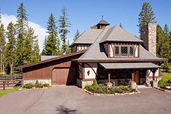 100 Whitefish Hills Dr Equestrian Ranch For Sale Whitefish, MT Fall Aerial