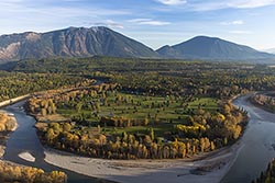 Glacier View Golf Course Middle Fork Fall Aerial