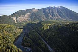 West Glacier, MT Fall Aerial