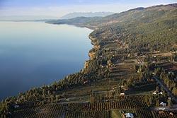 East side of Flathead Lake Flathead Lake Fall Aerial