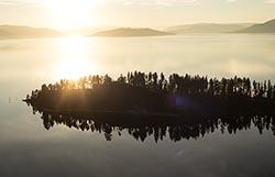 Flathead Lake Sunset Flathead Lake Fall Aerial