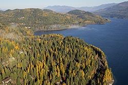 Fall over Whitefish Lake  Whitefish Lake, MT Fall Aerial