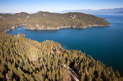 Hughes Bay Flathead Lake Flathead Lake Fall Aerial