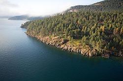 Fog over Hughes Bay Flathead Lake Flathead Lake Fall Aerial
