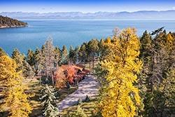 Hughes Bay Flathead Lake Home For Sale Flathead Lake Fall Aerial