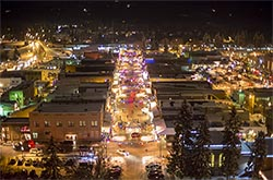 Christmas Stroll Whitefish, MT Whitefish, MT Winter Aerial