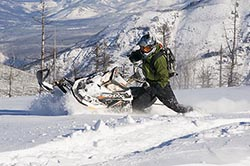 McInnis Creek North Fork Flathead Winter Snowmobiling