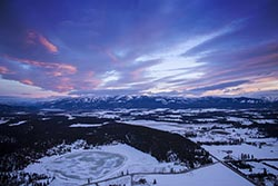 Big Mountain Sunset Big Mountain Winter Aerial