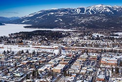 Whitefish Winter Carnival Whitefish Lake, MT Winter Aerial
