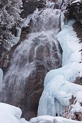 Holland Falls BigFork, MT Winter Aerial