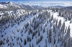 Whitefish Mountain Resort New Chair Terrain Big Mountain Winter Aerial